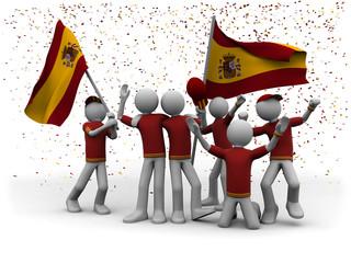 Fussballfans Spanien
