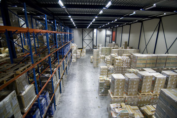 Cargo warehouse logistics overview