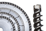 Circular Saw blades and drill of the big diameter poster