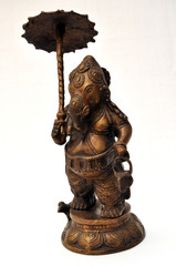 Statua di Ganesha in metallo - simbolo tibetano