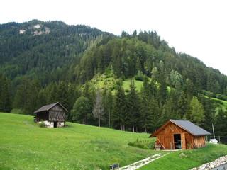 Barns in Siusi's alp