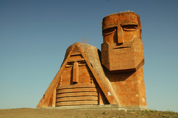 Monument in the capital of Nagorno-Karabakh, Stepanakert