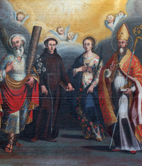 Saint Andrew, Anthony, Lucia and Nicholas