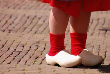 dutch cloggs red socks