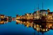 Gdansk of Riverside at night