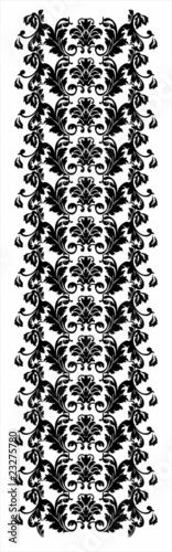 Glamour pattern in modern damask style