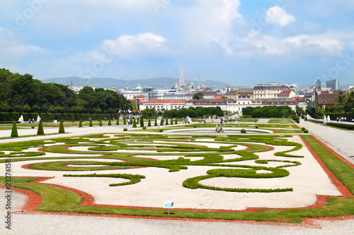 Beautiful garden of Belvedere Palace