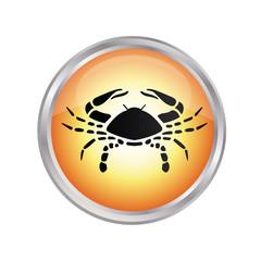 Krebs Sternzeichen Button