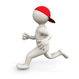 3D Man hurry poster