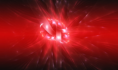 Red background. Abstract design. Red and white.