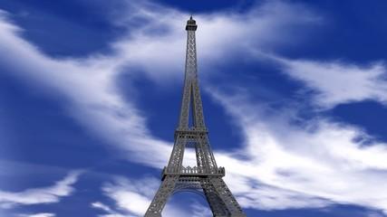 Torre Eiffel in 3D con Aereo di Linea
