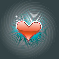 Beautiful red heart design background