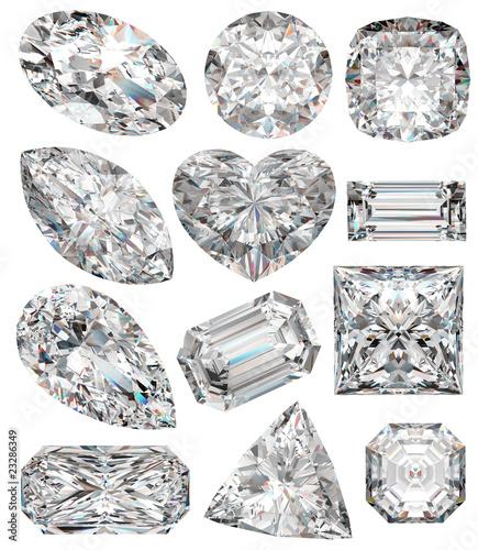 Leinwandbild Motiv Diamond shapes.
