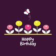 flower birthday card design