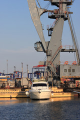 Odessa port at sunset