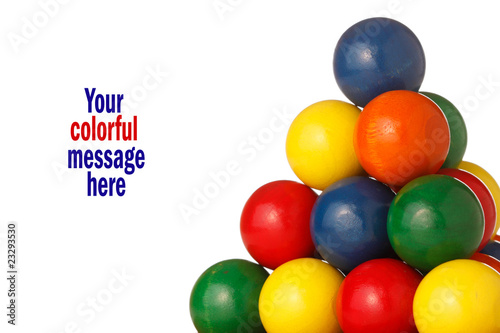 colorful balls form a pyramid