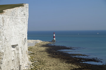 Leuchtturm am Beachy Head bei Eastbourne, Grafschaft East Sussex