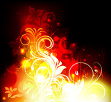 Fototapety Floral Fire Vector
