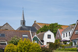 Skyline of Urk, an old fishing village, the Netherlands