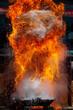 Explosion mit Feuer und Flammen
