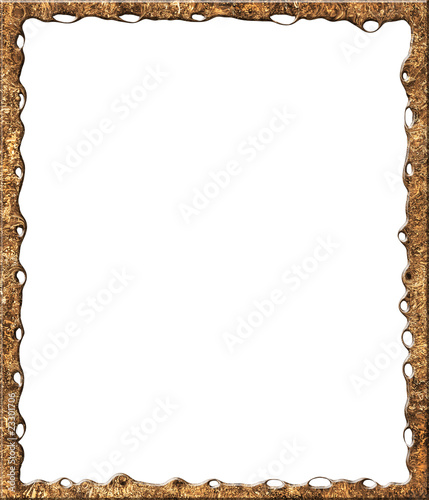 Fotobehang Bamboe Modern frame with clipping path