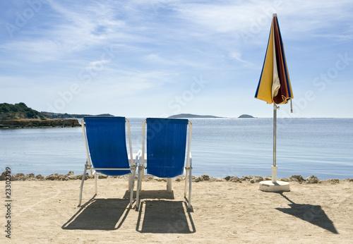 Hamacas en la playa de rubengutierrez imagen libre de - Hamacas de playa ...