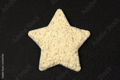 protein powder star shape