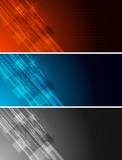 Fototapety Tech banners