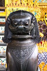 Singha guard in temple,bangkok