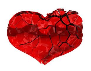 Broken Heart - unrequited love, death, disease or pain