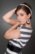 Women in striped dress