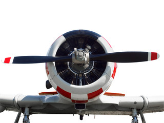 Close up of a vintage  aircraft