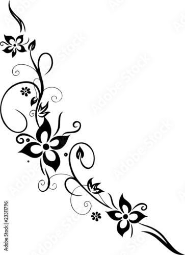 """""""ranke floral filigran blumen blüten abstrakt"""
