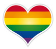 Rainbow heart lgbt flag