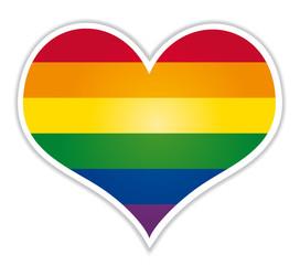 Rainbow heart lgbt flag