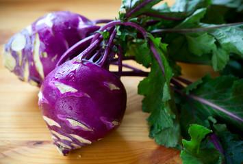 purple kohlrabies