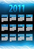 2011 Glowing Neon Blue Calendar.