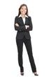 Businesswoman isolated on white backgrouund
