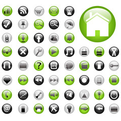 Green and Black Web Buttons