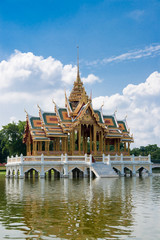 A hall in the water,Bangpain Palace Thailand