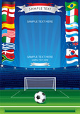 Detailed soccer poster for your text or image