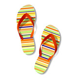 Fototapety Pair of flip flops. Vector.
