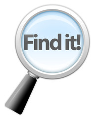 "Magnifying Glass Icon ""Find It!"""