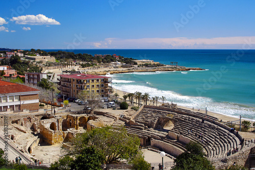 Photo: Tarragona coast - Roman amphitheatre, Spain © Pecold #