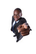 African businessman pointing to you
