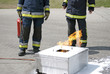 Firefighters safety training