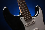Electric guitar, beautiful string instrument poster