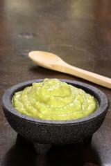 hot fresh delicious guacamole