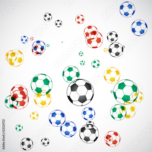 South Africa Soccer Balls Background