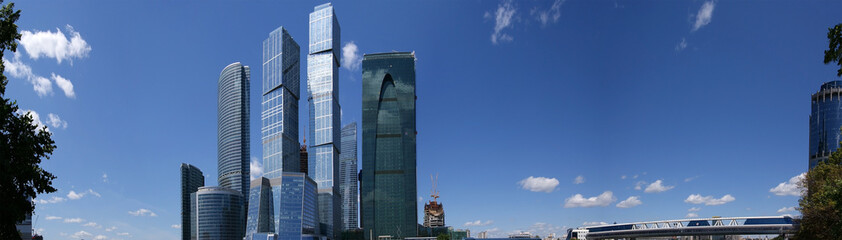 Panorama of the international business centre in Moscow